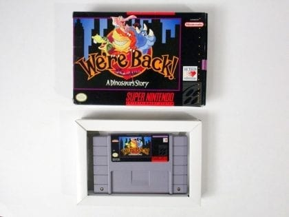 We're Back A Dinosaur Story game for Super Nintendo SNES -Game & Case