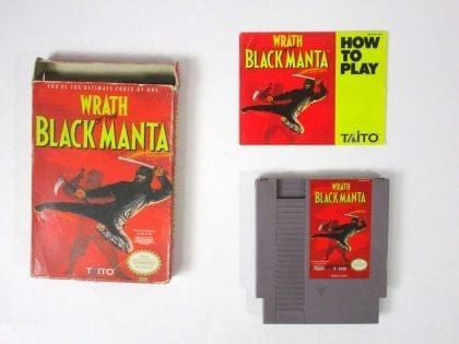Wrath of the Black Manta game for Nintendo NES -Complete