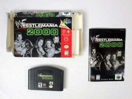 Wrestlemania 2000 game for Nintendo 64 N64 -Complete