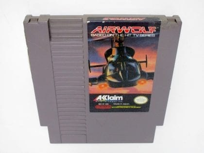Airwolf game for Nintendo NES - Loose
