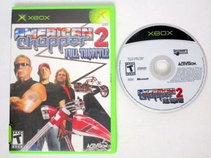 American Chopper 2 Full Throttle game for Microsoft Xbox -Game & Case