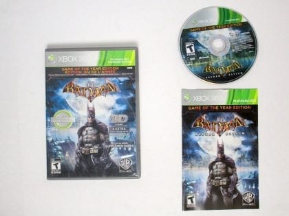 Batman Arkham Asylum Game of the Year Edition game for Xbox 360 Complete