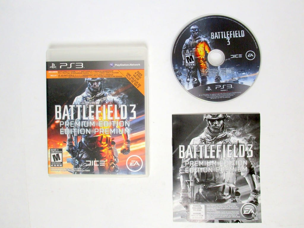 Battlefield 3 Premium Edition game for Sony Playstation 3 PS3 -Complete