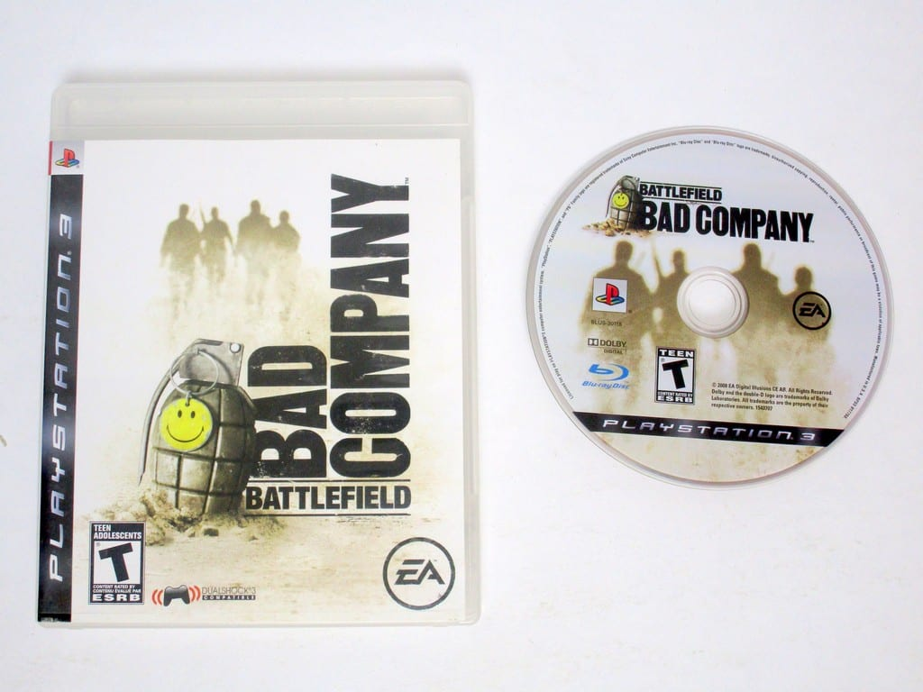 Battlefield Bad Company game for Sony Playstation 3 PS3 -Game & Case
