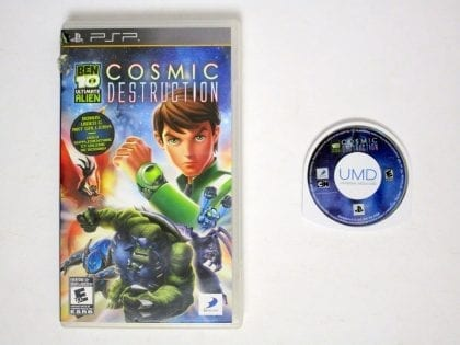 Ben 10: Ultimate Alien Cosmic Destruction game for Sony PSP -Game & Case