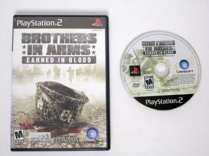 Brothers in Arms Earned in Blood game for Sony Playstation 2 PS2 -Game & Case