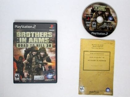 Brothers in Arms Road to Hill 30 game for Sony Playstation 2 PS2 -Complete