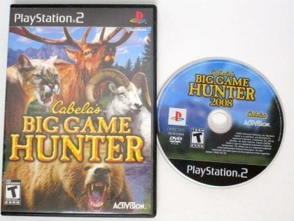Cabela's Big Game Hunter game for Sony Playstation 2 PS2 -Game & Case