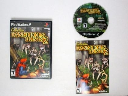 Cabela's Dangerous Hunts 2 game for Sony Playstation 2 PS2 -Complete