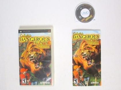 Cabela's Dangerous Hunts Ultimate Challenge game for Sony PSP -Complete