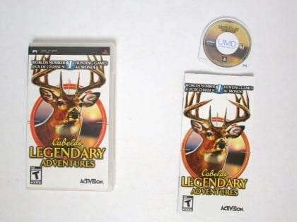 Cabela's Legendary Adventures game for Sony PSP -Complete
