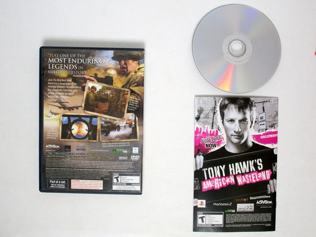 Call of Duty 2 Big Red One game for Playstation 2 (Complete)   The Game Guy