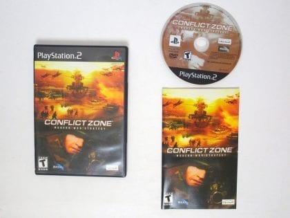 Conflict Zone Modern War Strategy game for Sony Playstation 2 PS2 -Complete