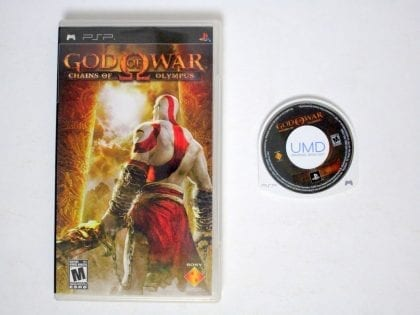 God of War Chains of Olympus game for Sony PSP -Game & Case