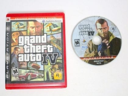 Grand Theft Auto IV game for Sony Playstation 3 PS3 -Game & Case