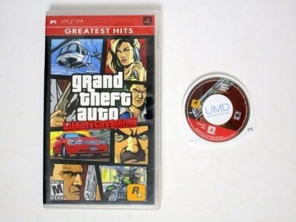 Grand Theft Auto Liberty City Stories game for Sony PSP -Game & Case