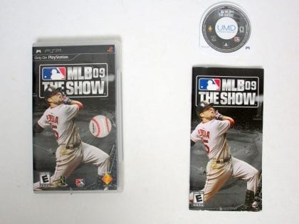 MLB 09: The Show game for Sony PSP -Complete