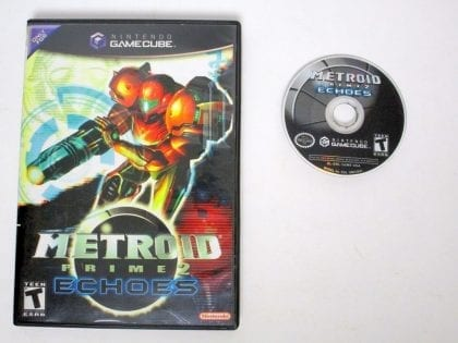 Metroid Prime 2 Echoes game for Nintendo Gamecube -Game & Case