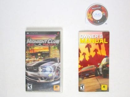Midnight Club LA Remix game for Sony PSP -Complete