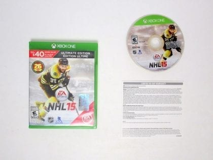 NHL 15: Ultimate Edition game for Microsoft Xbox One -Complete