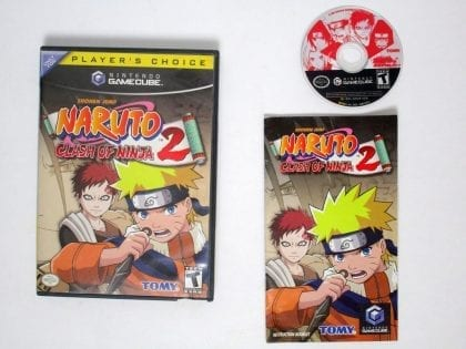 Naruto Clash of Ninja 2 game for Nintendo Gamecube -Complete