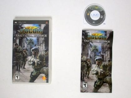SOCOM US Navy Seals Tactical Strike game for Sony PSP -Complete