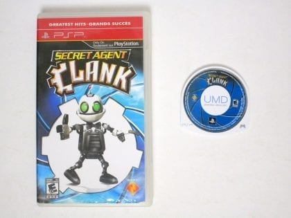 Secret Agent Clank game for Sony PSP -Game & Case