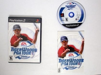 Tiger Woods 2001 game for Sony Playstation 2 PS2 -Complete