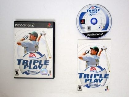 Triple Play Baseball game for Sony Playstation 2 PS2 -Complete