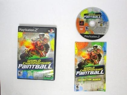 World Championship Paintball game for Sony Playstation 2 PS2 -Complete