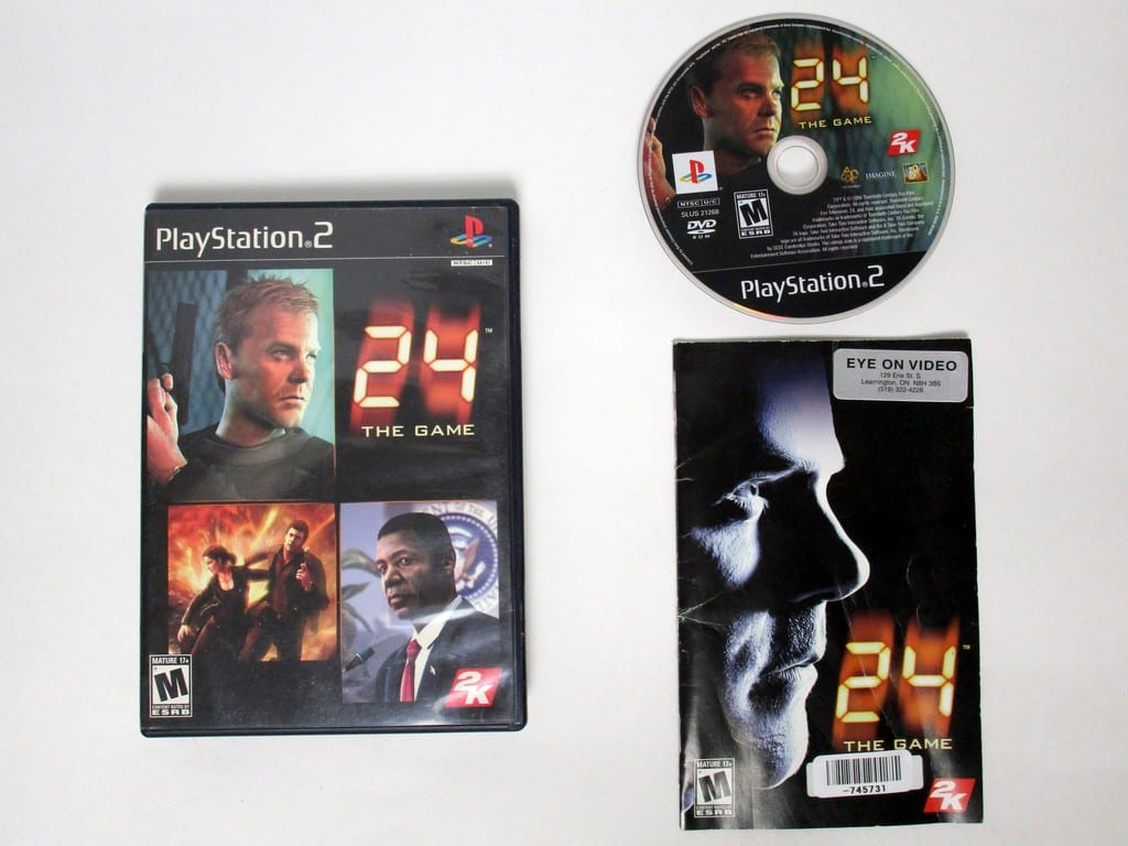 24 the Game game for Sony Playstation 2 PS2 -Complete