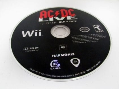 AC/DC Live Rock Band Track Pack game for Nintendo Wii - Loose