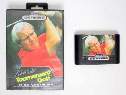 Arnold Palmer Tournament Golf game for Sega Genesis -Game & Case