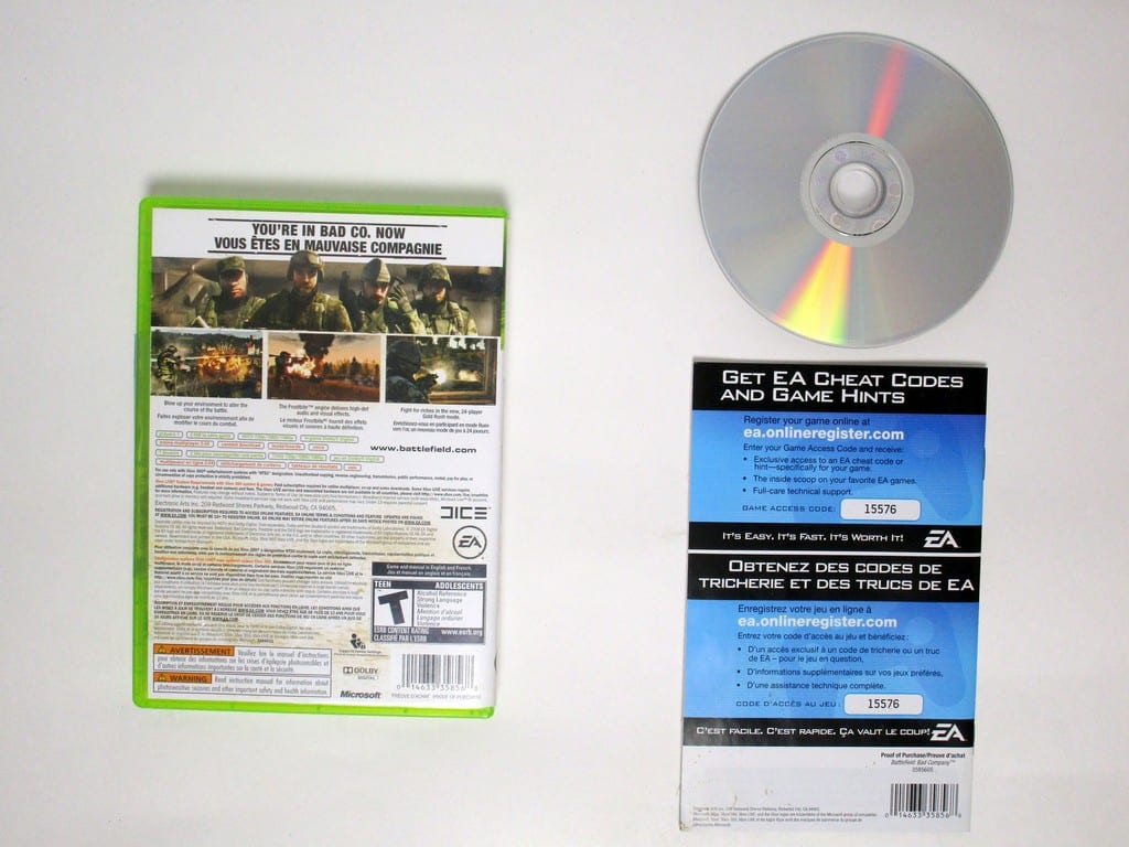 Battlefield Bad Company game for Microsoft Xbox 360 -Complete