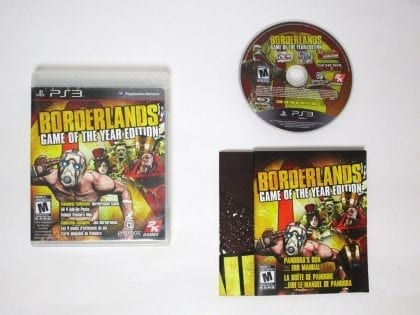 Borderlands Game of the Year Edition game for Sony Playstation 3 PS3 -Complete