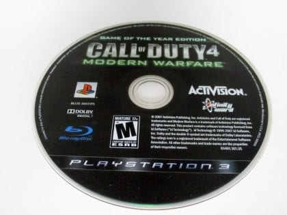 Call of Duty 4 Modern Warfare Game of the Year Edition game for PS3 - Loose