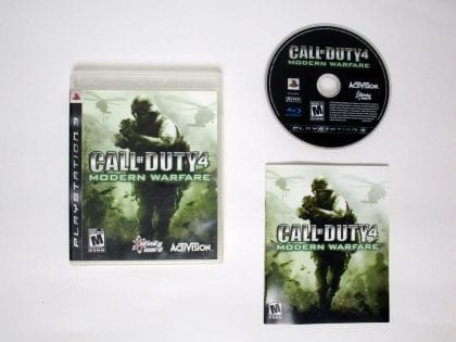 Call of Duty 4 Modern Warfare game for Sony Playstation 3 PS3 -Complete
