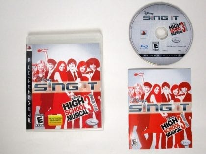 Disney Sing It High School Musical 3 game for Sony Playstation 3 PS3 -Complete