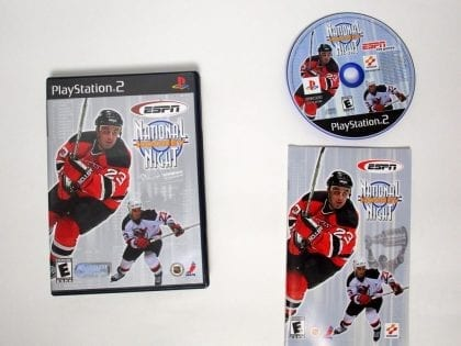 ESPN National Hockey Night game for Sony Playstation 2 PS2 -Complete