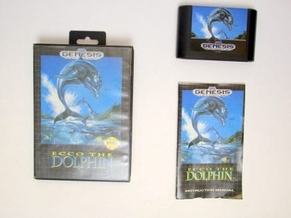 Ecco the Dolphin game for Sega Genesis -Complete