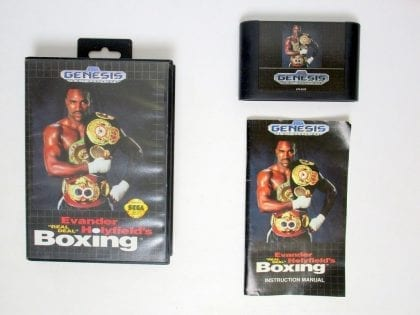 Evander Holyfield's Real Deal Boxing game for Sega Genesis -Complete