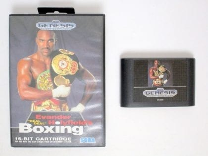Evander Holyfield's Real Deal Boxing game for Sega Genesis -Game & Case