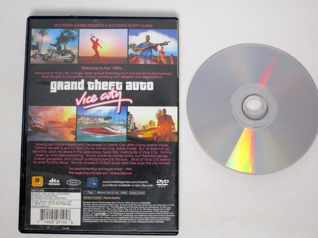 Grand Theft Auto Vice City game for Playstation 2 | The Game Guy