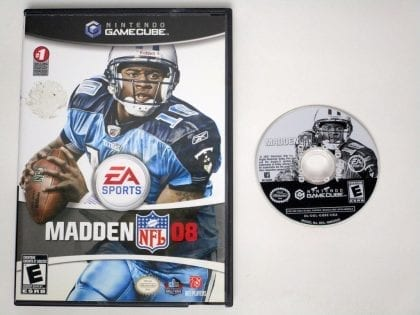 Madden 2008 game for Nintendo Gamecube -Game & Case