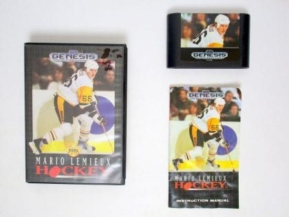 Mario Lemieux Hockey game for Sega Genesis -Complete
