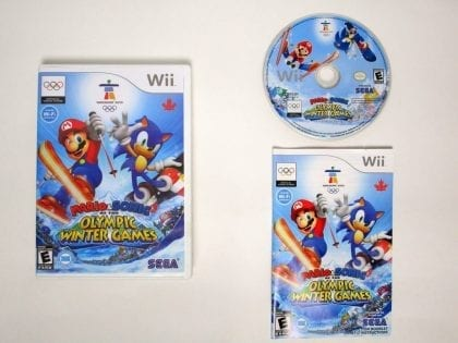 Mario and Sonic Olympic Winter Games game for Nintendo Wii -Complete