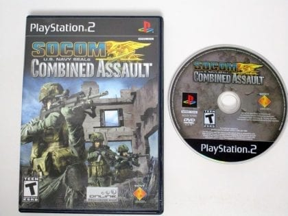 SOCOM US Navy Seals Combined Assault game for Sony Playstation 2 PS2 -Game&Case