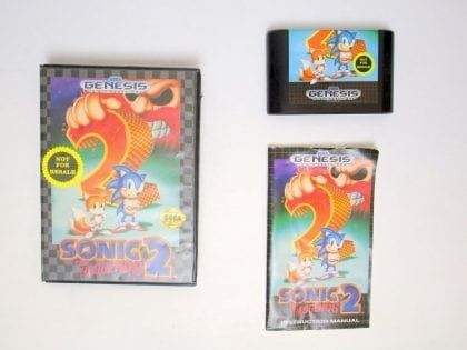 Sonic the Hedgehog 2 game for Sega Genesis -Complete