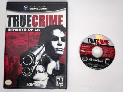 True Crimes Streets of LA game for Nintendo Gamecube -Game & Case