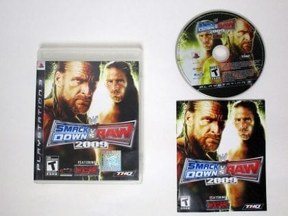 WWE SmackDown vs. Raw 2009 game for Sony Playstation 3 PS3 -Complete